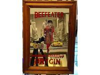 Beefeater bar mirror (vintage)