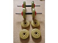 York Barbells 4 X 2.3 kg & 4 X 1.1 kg Hand Weights Gym Home Office Fitness Exercise Equipment