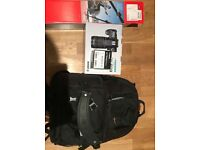 Canon 70D camera Bundle ( 18-135mm & 50mm lenses, manfrotto, backpack, memory card, luma loop)
