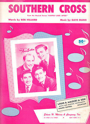 Southern Cross Music Book (Southern Cross-1955-Bob Hilliard-4 Pages-Sheet)