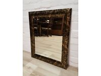 Black & Gold Wall Mirror (DELIVERY AVAILABLE)
