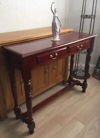 Lovely Solid Wood Mahogany Hall Table