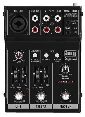 Stageline MMX-11USB Compact USB Professional Mixer Mixing Desk Live Sound Studio - Live Compact Mixer