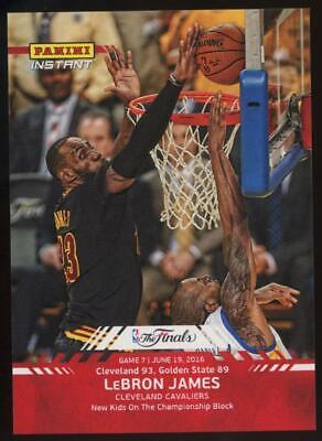 2016 Panini Instant NBA #13 Lebron James 1/532 The Finals
