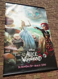 "Disney ""Alice in Wonderland"" Queens - Cinema promotional poster - LARGE - Great condition"