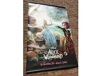 """Disney """"Alice in Wonderland"""" Queens - Cinema promotional poster - LARGE - Great condition"""