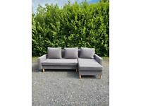 FREE DELIVERY 🚚 DUNELM GREY FABRIC MODERN CORNER SOFA BED GREAT CONDITION