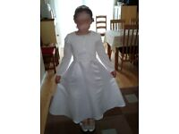 First Holy Communion John Lewis Dress,JL Cardigan,Monsoon Shoes and cake topper