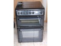 VERY GOOD CONDITION, 6 MONTHS WARRANTY Hotpoint HAE60 double oven electric cooker FREE DELIVERY