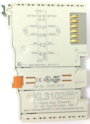 Beckhoff Kl3102 10v 2 X Analog Input Differential Plc