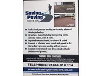Saving paving driveway and roof cleaning services