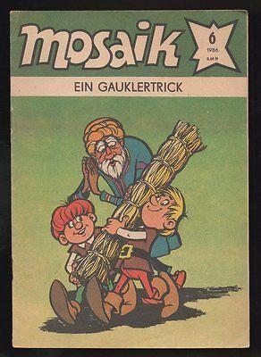 Abrafaxe Mosaik Nr. 6 / 1986 – Ein Gauklertrick  DDR Comic 3 Bilder
