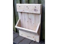 Hand-Made Rustic Barnwood Garden WALL POCKET