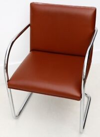 KNOLL MIES VAN DER ROHE ICONIC CHAIRS COST £1100 EACH CHAIR V.G.C. FOR A NHS NURSES SUPPORT CHARITY