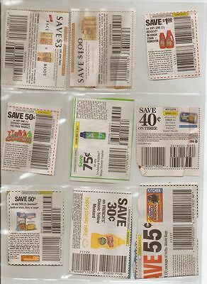 12 COUPON SLEEVES PAGES ORGANIZER STORAGE 9 POCKET CARD