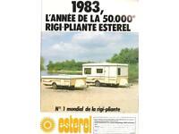 Vintage Esterel 3 Berth Folding Caravan Ready To Use + Project