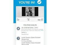 Beyoncé and Jay Z tickets OTR tour