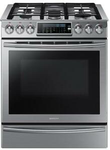 Samsung NX58H9500WS 30 inch Gas Range Self Clean Convection 5 Sealed Burners