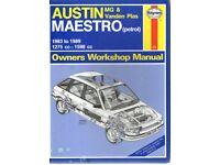 Haynes Manual Austin Maestro 1983-1989