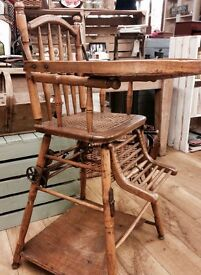 Victorian metamorphic high chair