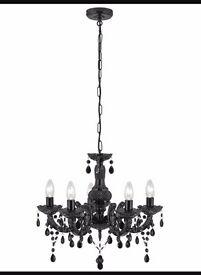 Black ornate chandelier