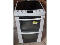 55CM WIDE Zanussi ZKC5540 double oven electric cooker WARRANTY GIVEN