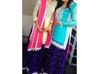 Wedding clothes, Asian lengha suit, in yellow kameez