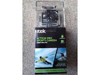 Itek Action Pro 1080p ultra HD Sports Camera LCD Waterproof 167002.