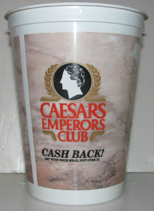 VINTAGE LARGE Coin Cup CAESARS CASINO Emperors Club RARE