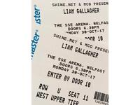 Seated 2 x Liam Gallagher Tickets SSE Arena Belfast
