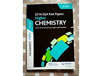 Higher chemistry past paper book SQA 2016