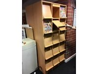 MAGAZINE TOY CUPBOARD NURSERY CRAFT FLORIST BUSINESS STORAGE SHELF UNITS