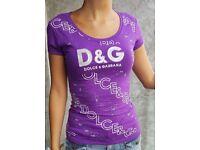 New purple D&G t-shirt size S