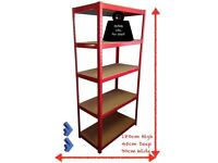 SUMMER SAVE: 5.00GBP per unit;Reduced with 5.00 GBP per shelve was 40 5 Tier Racking/Shelving Bay