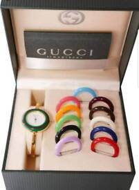 Gucci ladies watch changeable bezels