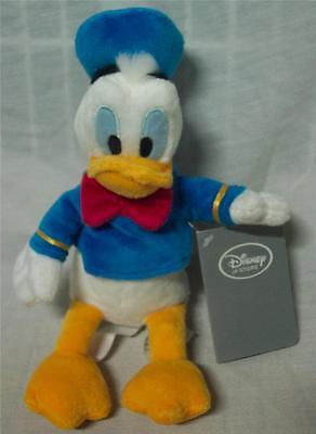 "Walt Disney Store NICE SOFT DONALD DUCK 9"" Plush STUFFED ANIMAL Toy NEW"