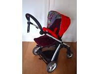 Mamas & Papas Sola2 Pushchair/Pram Red. Excellent condition!