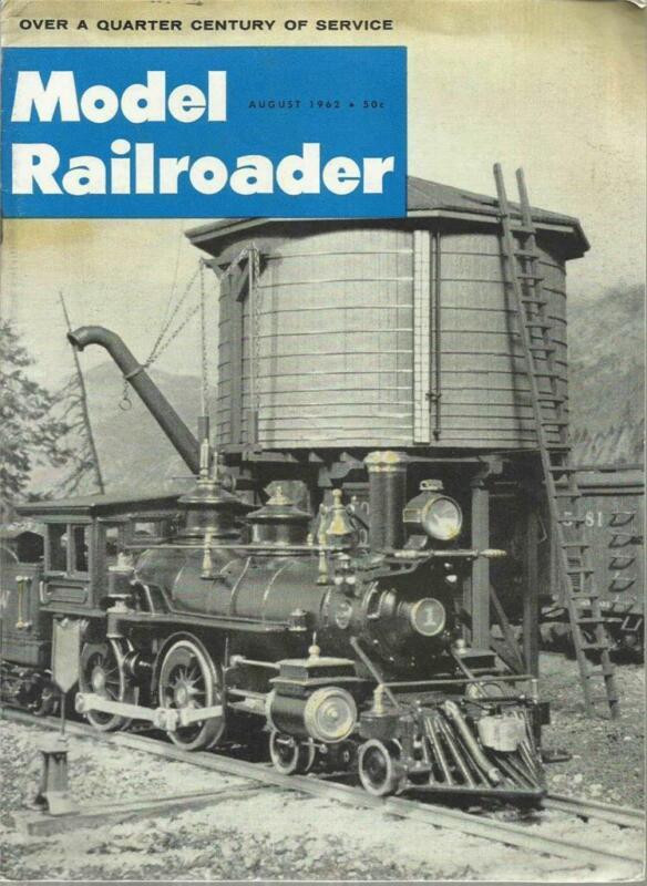 Model Railroader August 1962 Gramercy LA Station Plans & CNR GT Mogul Drawings