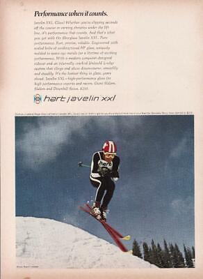 1967 Hart Hornet Junior Racing Skis Vintage Sports Promo Print AD