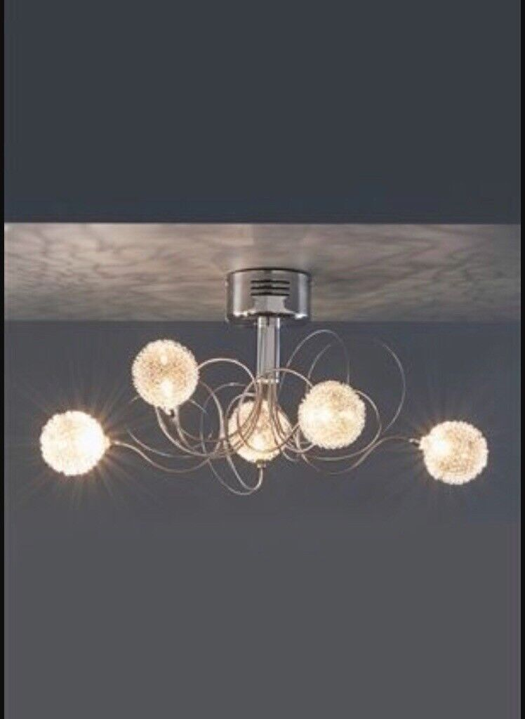 Next Juno Floor Lamp, Ceiling Light and Curtain Pole