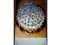 Solid 9ct gold heavy ring with 1 whole carat full of genuine diamonds stunning