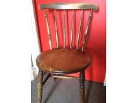Vintage chair - wooden kitchen chair