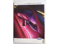 FORD FIESTA OWNER'S MANUAL 2012 WITH FORD WALLET