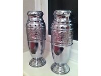 Decorated Chrome Plated Vases