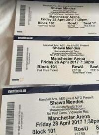 3 x Shawn mendes tickets Manchester 28th April 2017-can deliver FAB SEATS