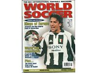 8 World Soccer Magazines 1997 - 1998 / Excellent Condition