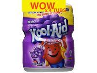 4 tubs of Kool Aid Drink Mix Grape Flavour KoolAid 538 g 19 oz (4 tubs) ono