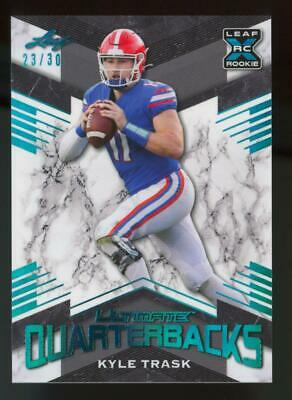 2021 Leaf Ultimate Quarterbacks Light Blue XRC Kyle Trask /30 RC Rookie