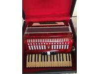 Parrot 48 Bass 34 Key Piano Accordion