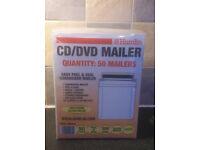 CD / DVD MAILING ENVELOPES X 50 (4 packs) NEW